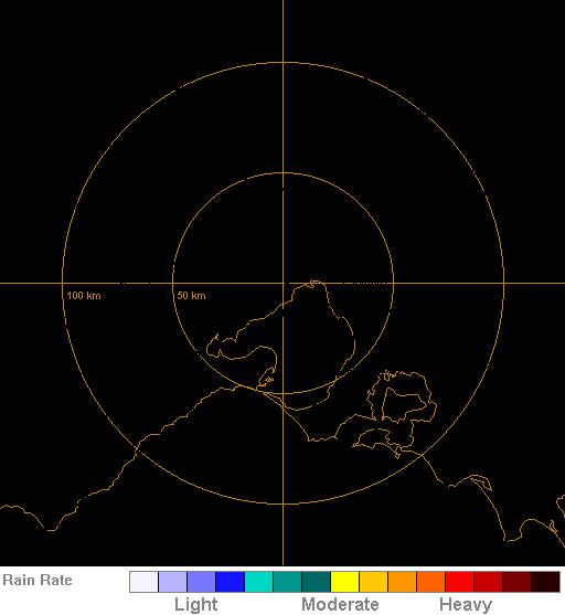 128 km Melbourne Radar